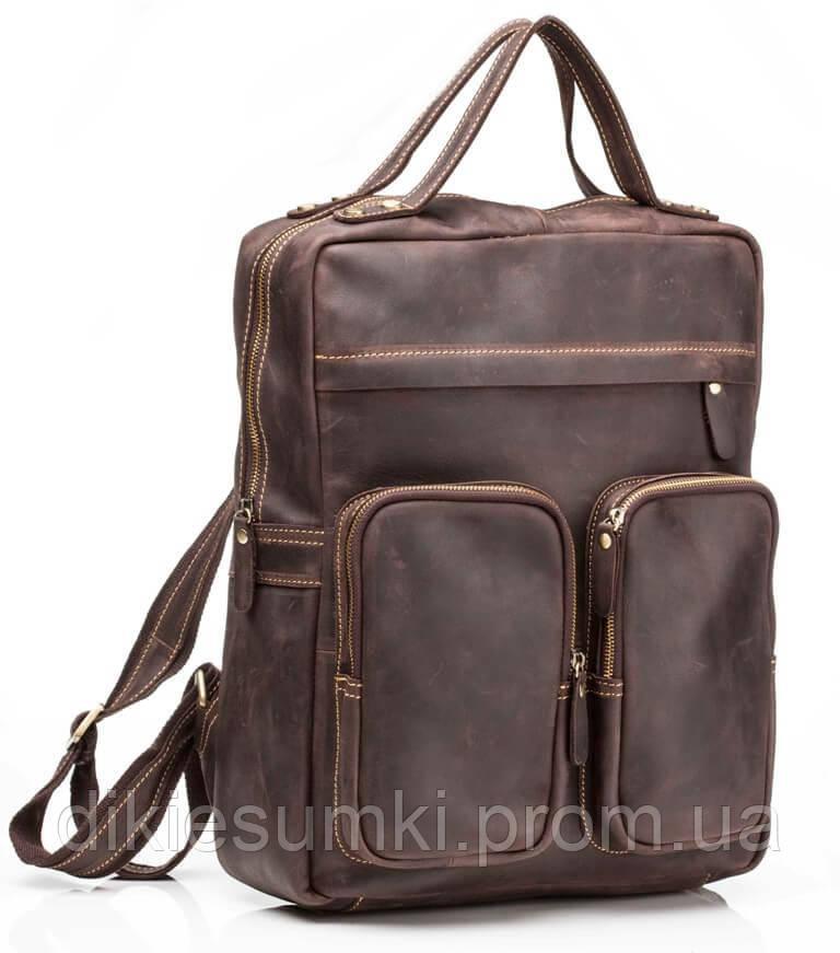 da57caf44287 Рюкзак кожаный мужской TIDING BAG G2107В коричневый в Интернет ...