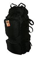 Туристический экспедиционный большой супер-крепкий рюкзак на 90 литров черный, фото 1