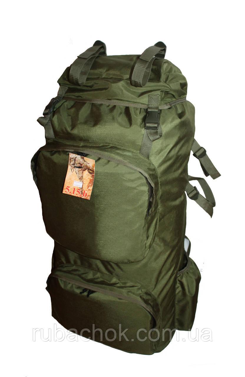 Туристический экпедиционный большой супер-крепкий рюкзак на 90 литров олива
