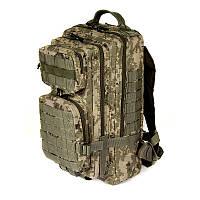 Тактический штурмовой армейский супер-крепкий рюкзак на 25 литров Украинский пиксель