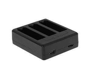 Комплект: Зарядное устройство для GoPro Hero 4 на три аккумулятора+ 2 аккумулятора  AHDBT-401 1160 mAh, фото 3