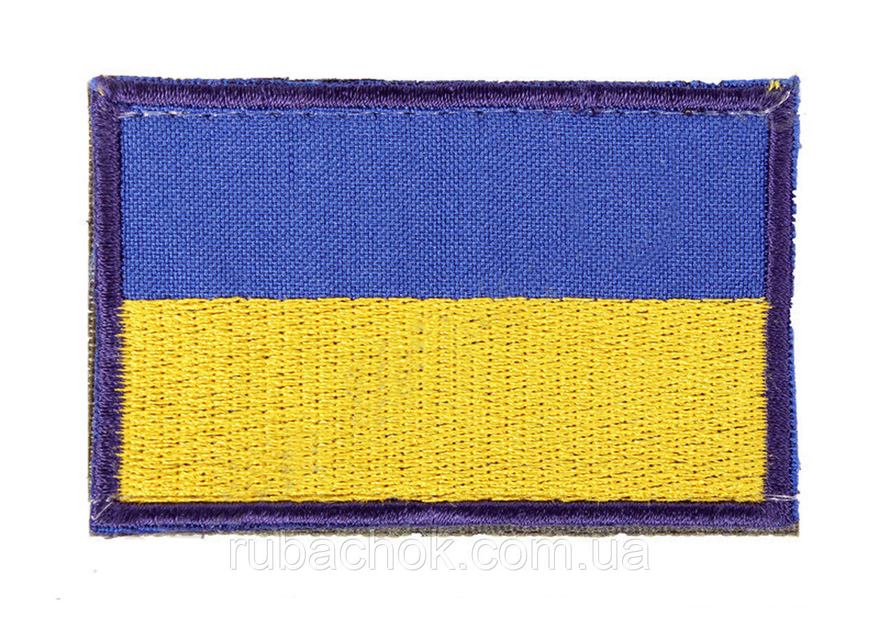 Прапор України на липучці 60 х 40 Velcro для кепки-бейсболки і панами