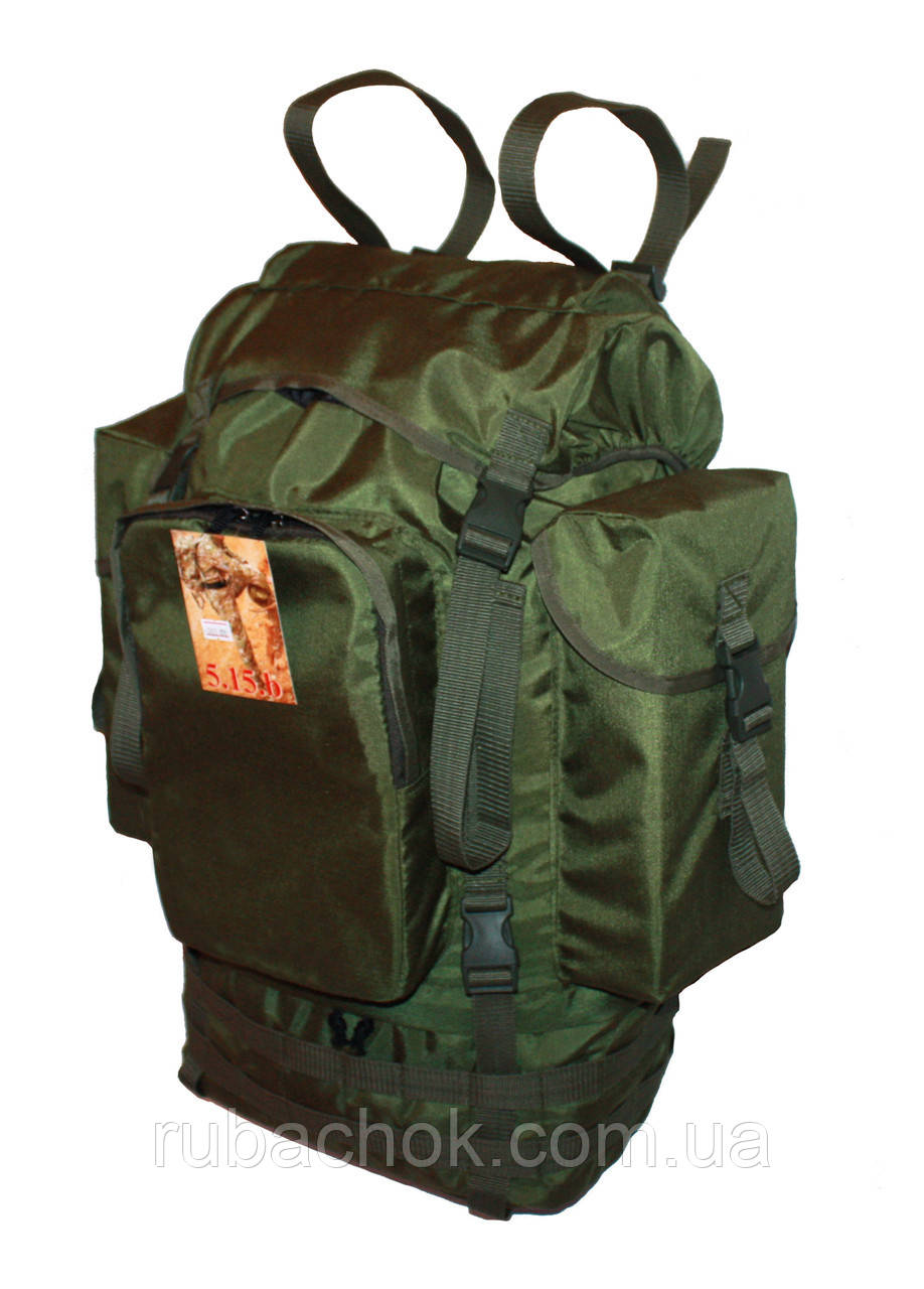 Туристический армейский крепкий рюкзак 65 литров Олива