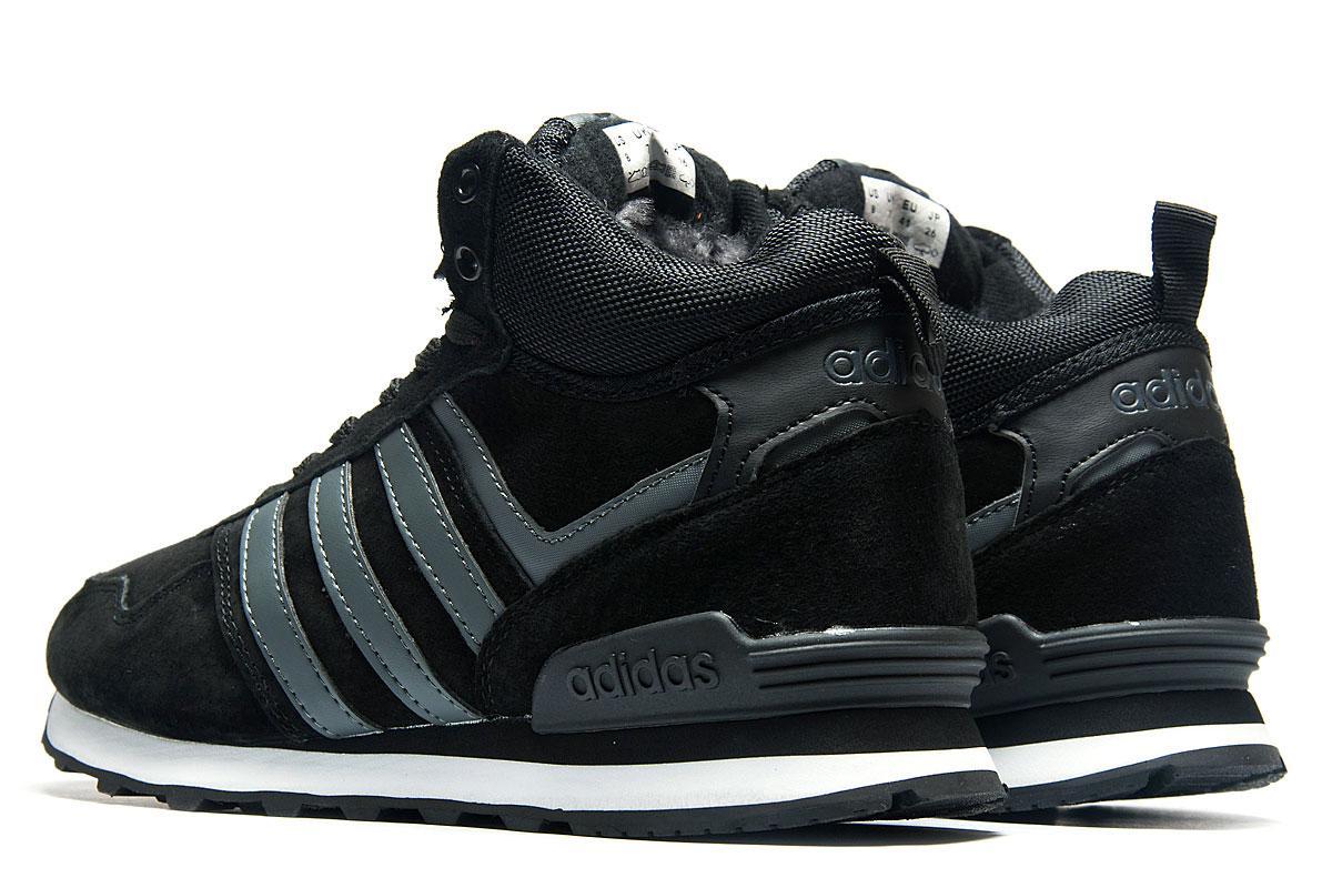 4d5cdcc4 Зимние кроссовки на меху Adidas Fastr TEX, черные (3180-1), [ 41 (по ...