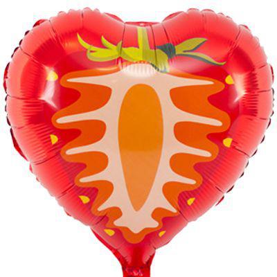 Фольгированный шар клубничка 45см