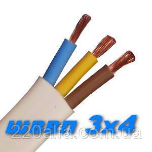 Медный кабель силовой провод шнур ШВВП 3х 4