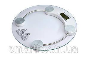 Цифровые напольные весы 2003A круглые стеклянные+подсветка дисплея (до 180кг)