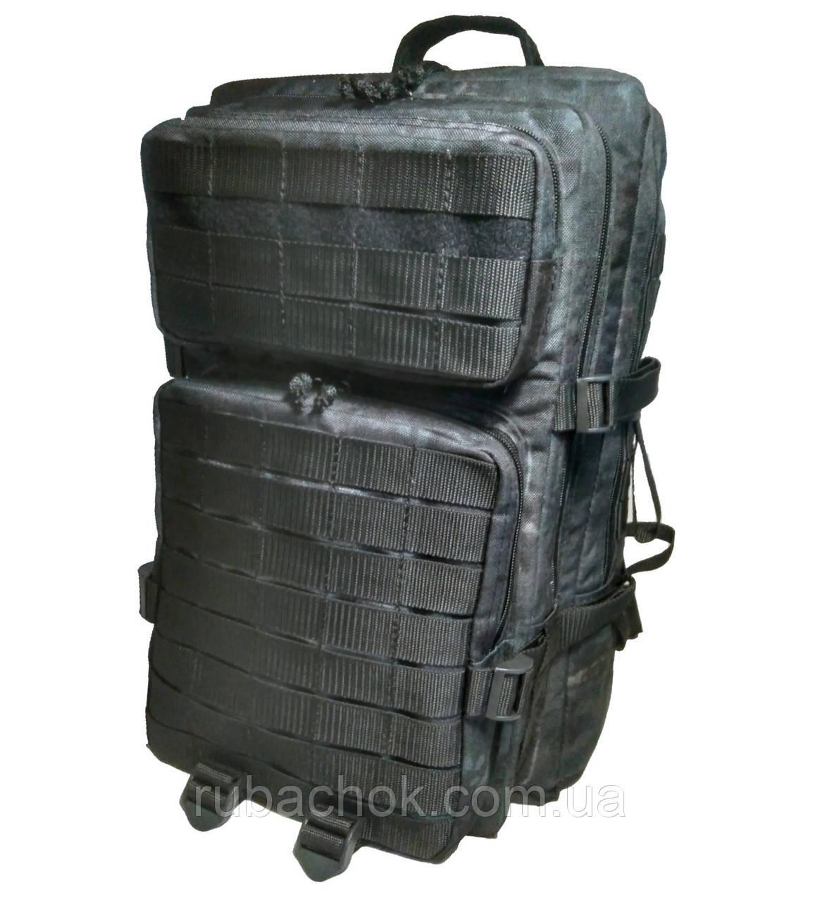 Тактический, штурмовой супер-крепкий рюкзак 38 литров Атакс черный