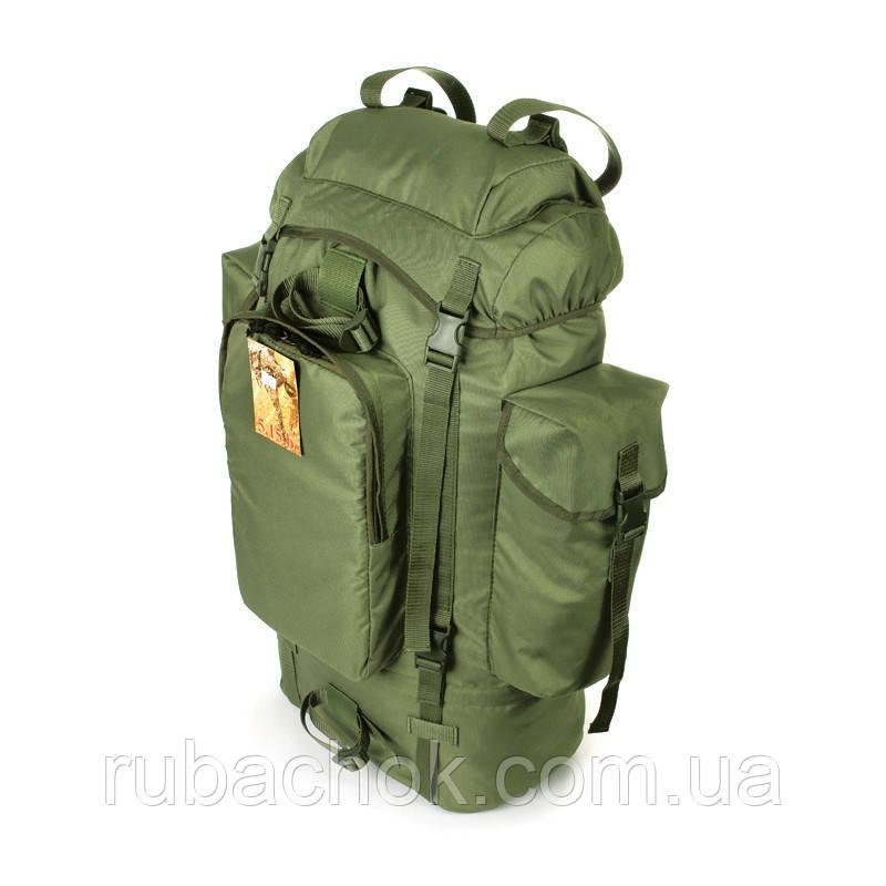 Туристичний армійський міцний рюкзак на 75 літрів олива