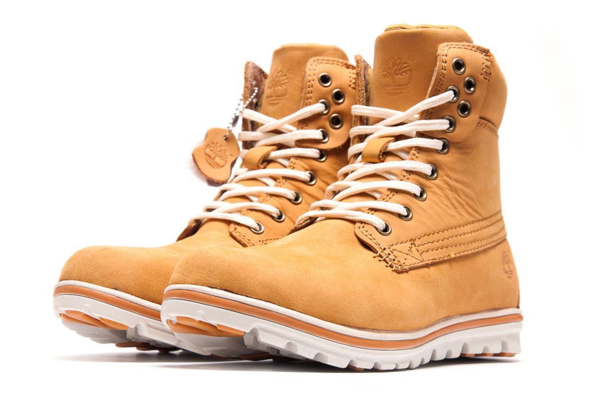 Зимние ботинки на меху Timberland, песочные (3190-1),  [  40 (последня