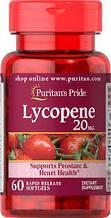 Ликопин, Puritan's Pride Lycopene 20 mg 60 softgels