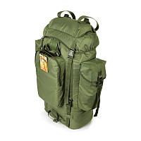Туристический армейский супер-крепкий рюкзак 75 л. ортопедическая пластина олива, фото 1