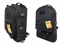 Тактический туристический супер-крепкий рюкзак трансформер 30-45 литров Черный, фото 1