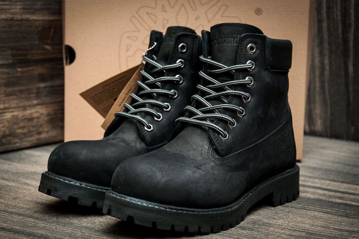 Зимние ботинки на меху Timberland 6 premium boot, черные (3194-2),  [