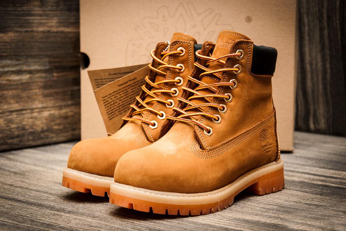 Зимние ботинки на меху Timberland 6 premium boot, песочные (3195-1),