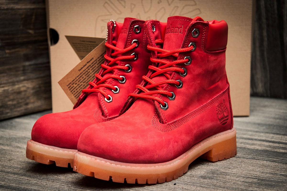 Ботинки женские Timberland 6 premium boot, красные (3195-4),  [   36