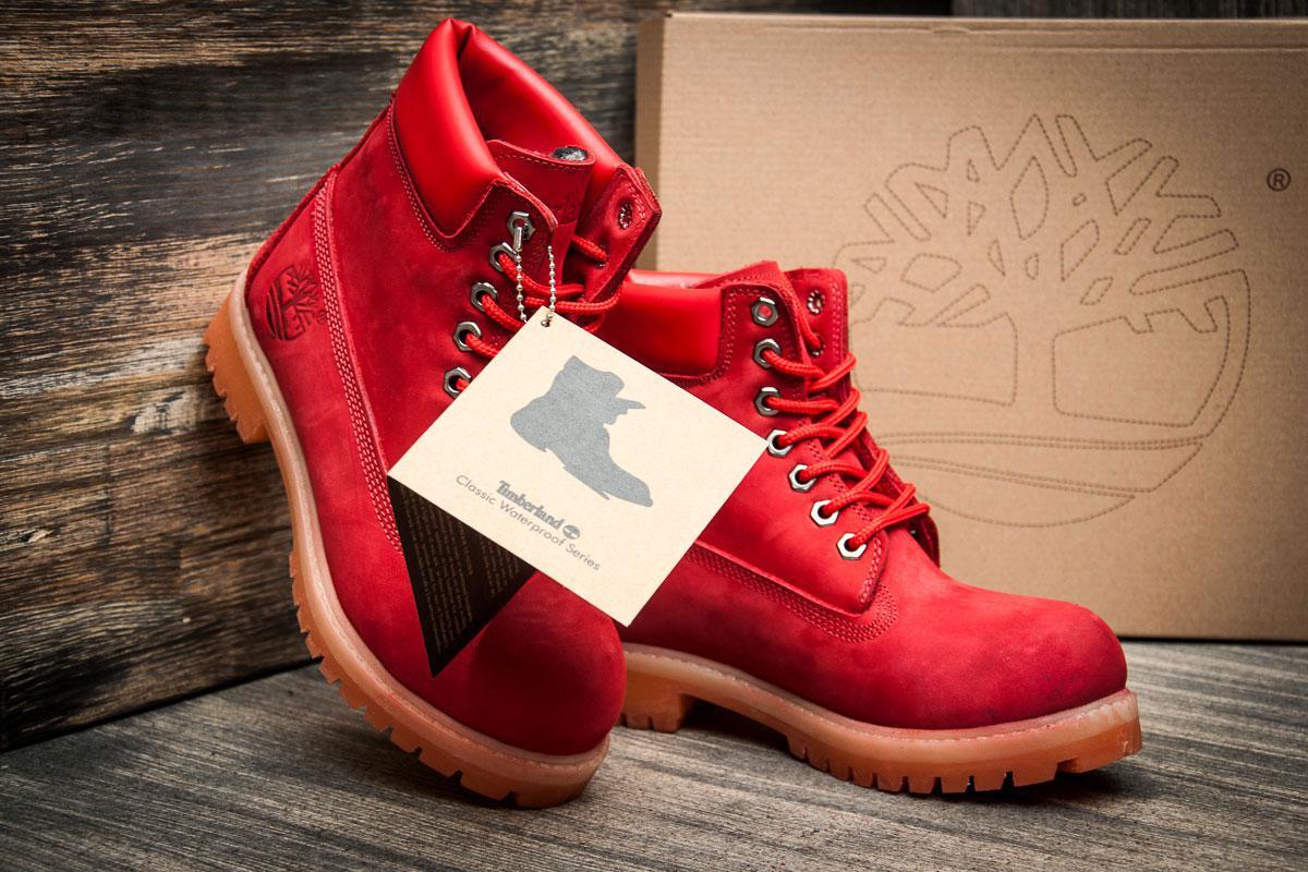 db3e778a ... Ботинки женские Timberland 6 premium boot, красные (3195-4), [ 36 ...