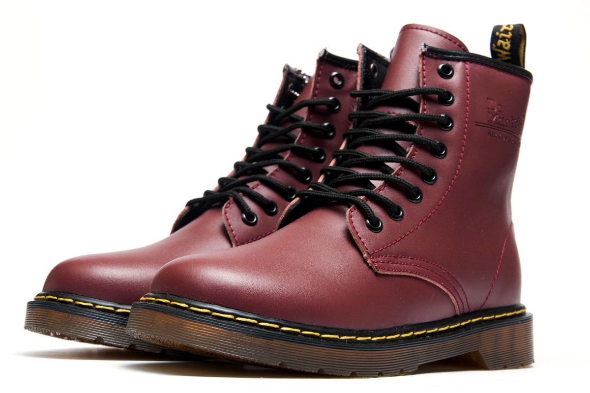 Ботинки женские Dr. Martens, бордовые (3197-3),  [   36 42 45  ]