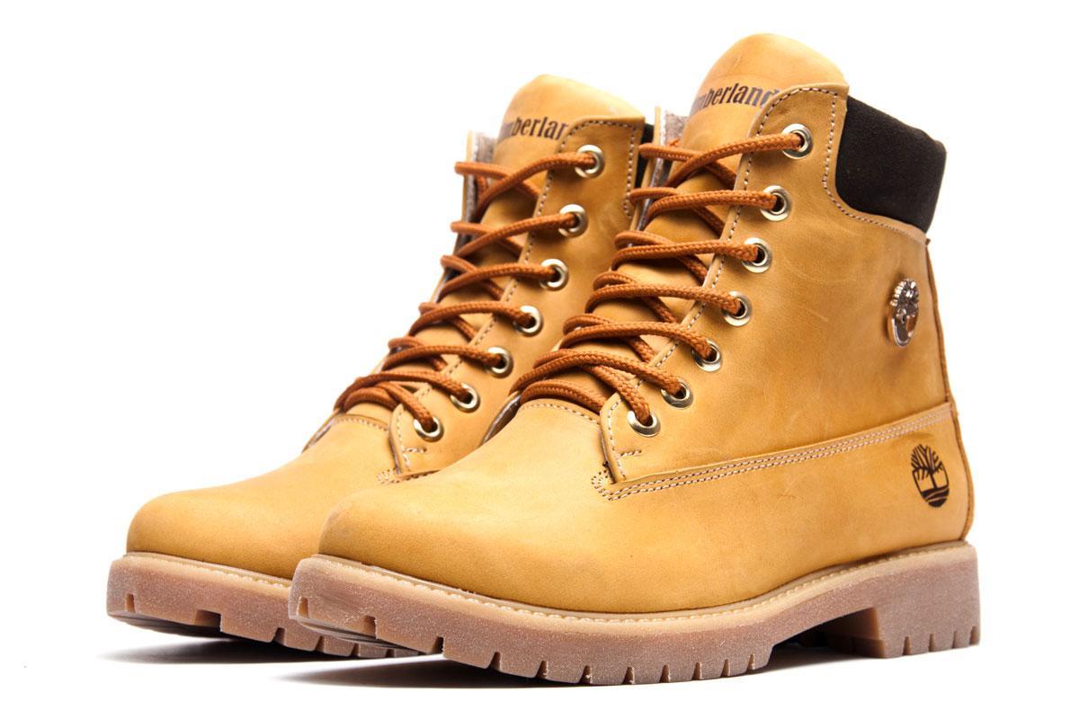 Зимние ботинки Timberland 6 inch, песочные (3834-1),  [  36 (последняя