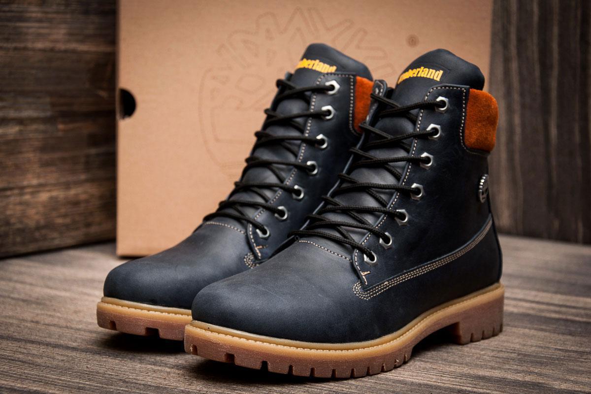 Ботинки мужские Timberland 6 premium boot, темно-синие (3837-2),  [
