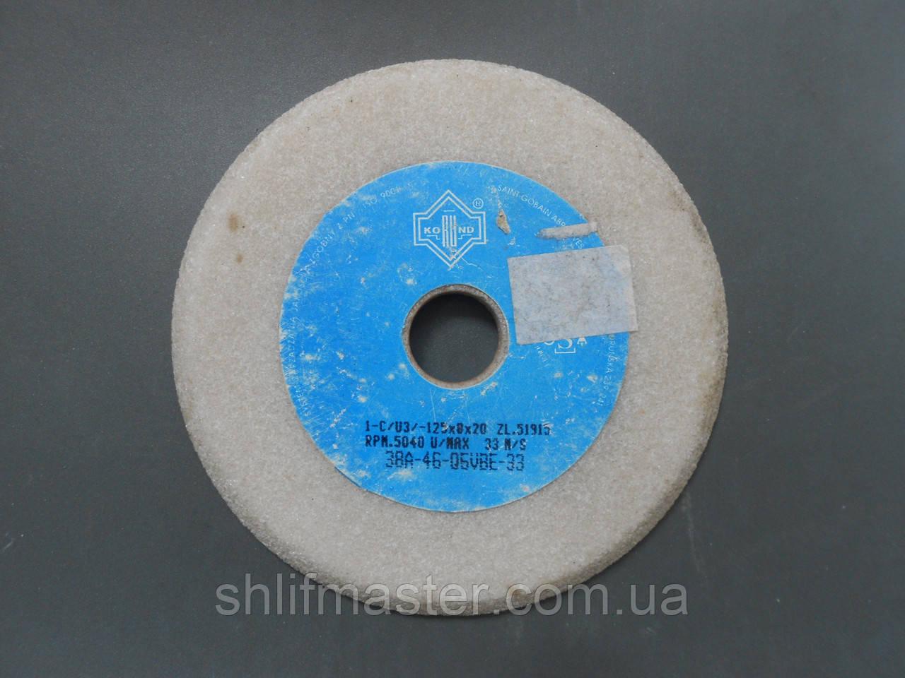 Круг для заточки пил 3П 38А 125х8х20 40Q SVBE-3