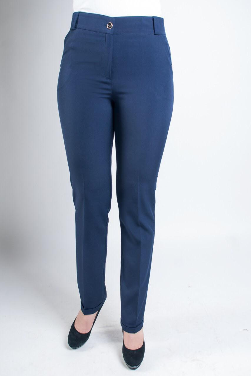 Синие женские брюки с карманами Адрианна