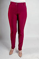 Зауженные женские брюки Адрианна бордового цвета, фото 1