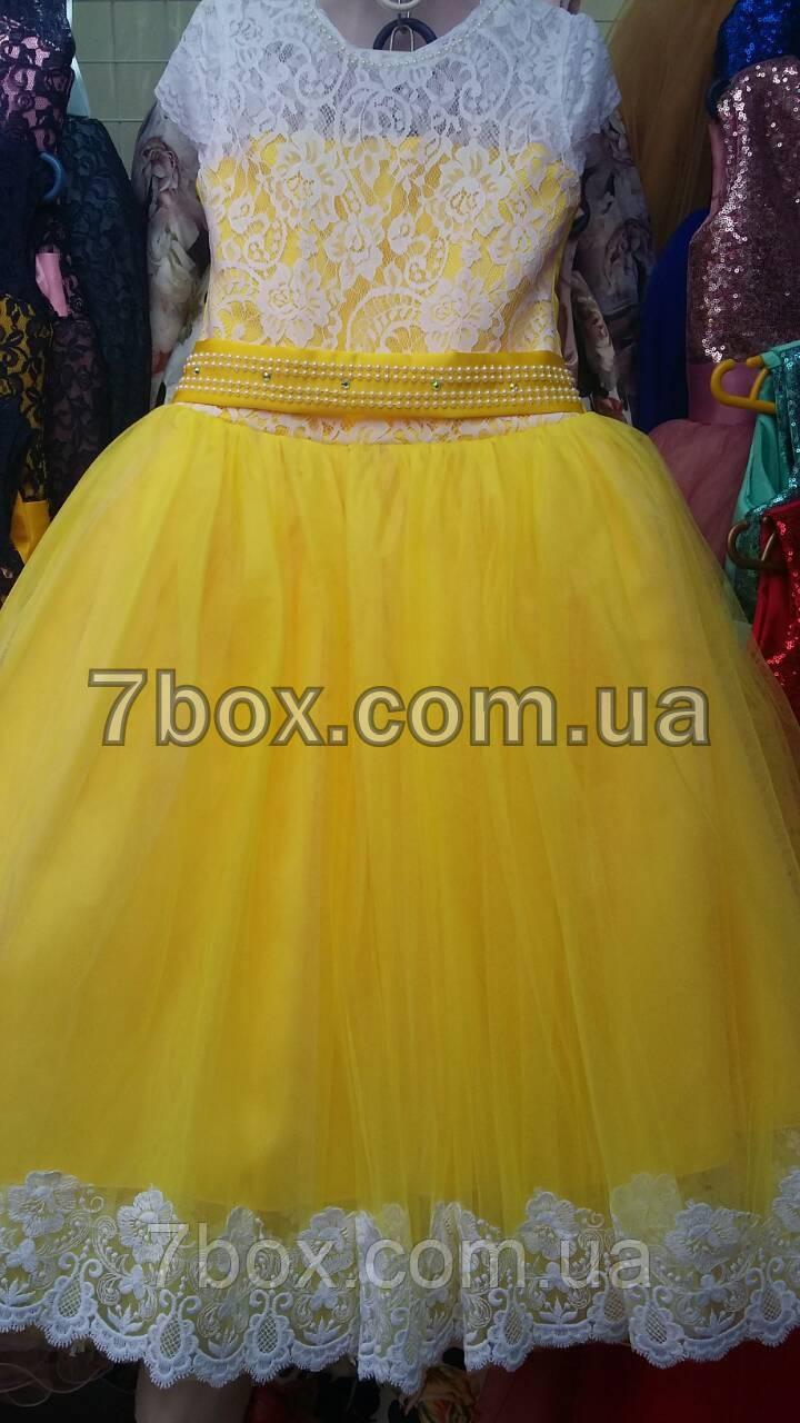 Дитяча сукня бальна Валансьєн. Вік 6-7 років. Жовте
