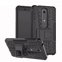 Чехол Nokia 6.1 / Nokia 6 New 2018 противоударный бампер черный