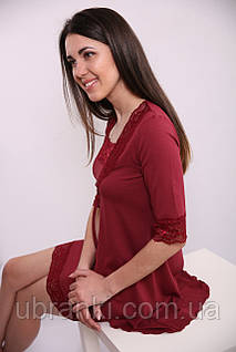 Женский ночной комплект с халатом