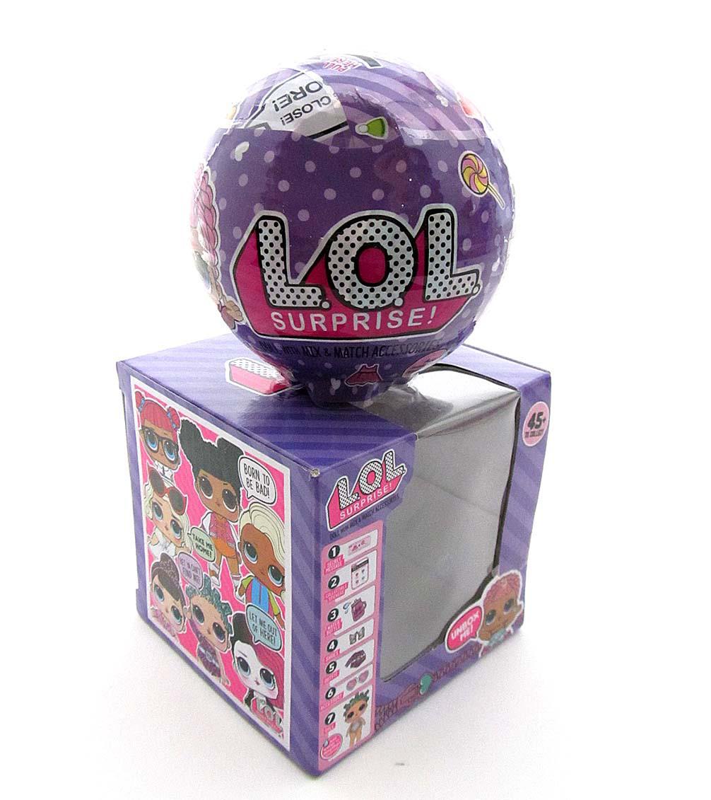 Кукла LOL 8 серия фиолетовый шар / аналог
