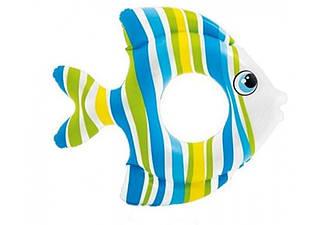 Детский надувной круг Тропические рыбки Intex 81 см