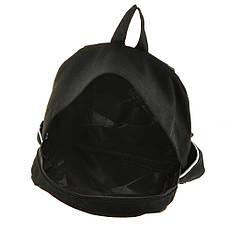 Рюкзак молодёжный BAIYUN 30х43х12 чёрный, материал брезент, фото 3