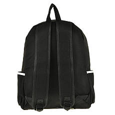 Рюкзак молодёжный BAIYUN 30х43х12 чёрный, материал брезент, фото 2
