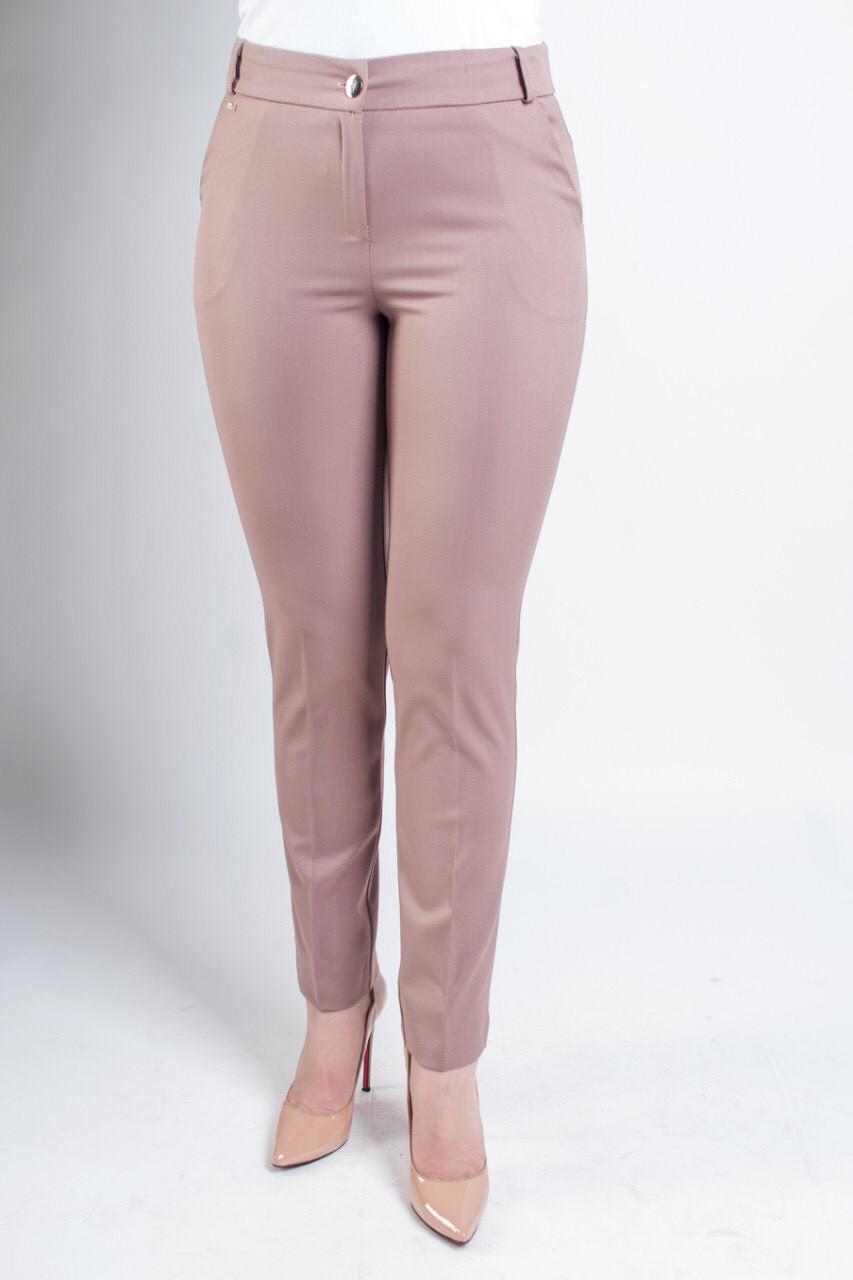 Укороченные женские брюки Элария бежевого цвета