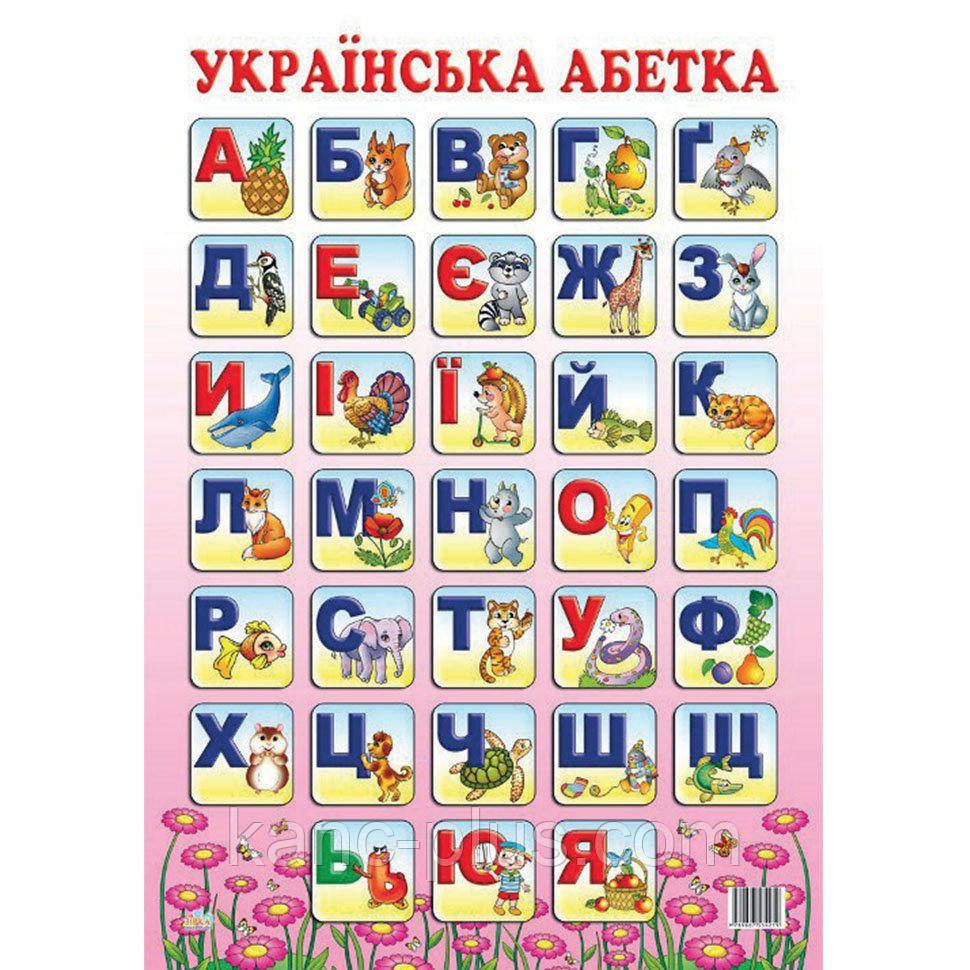Плакат Украинский алфавит, Зірка, 47940: продажа, цена в ...