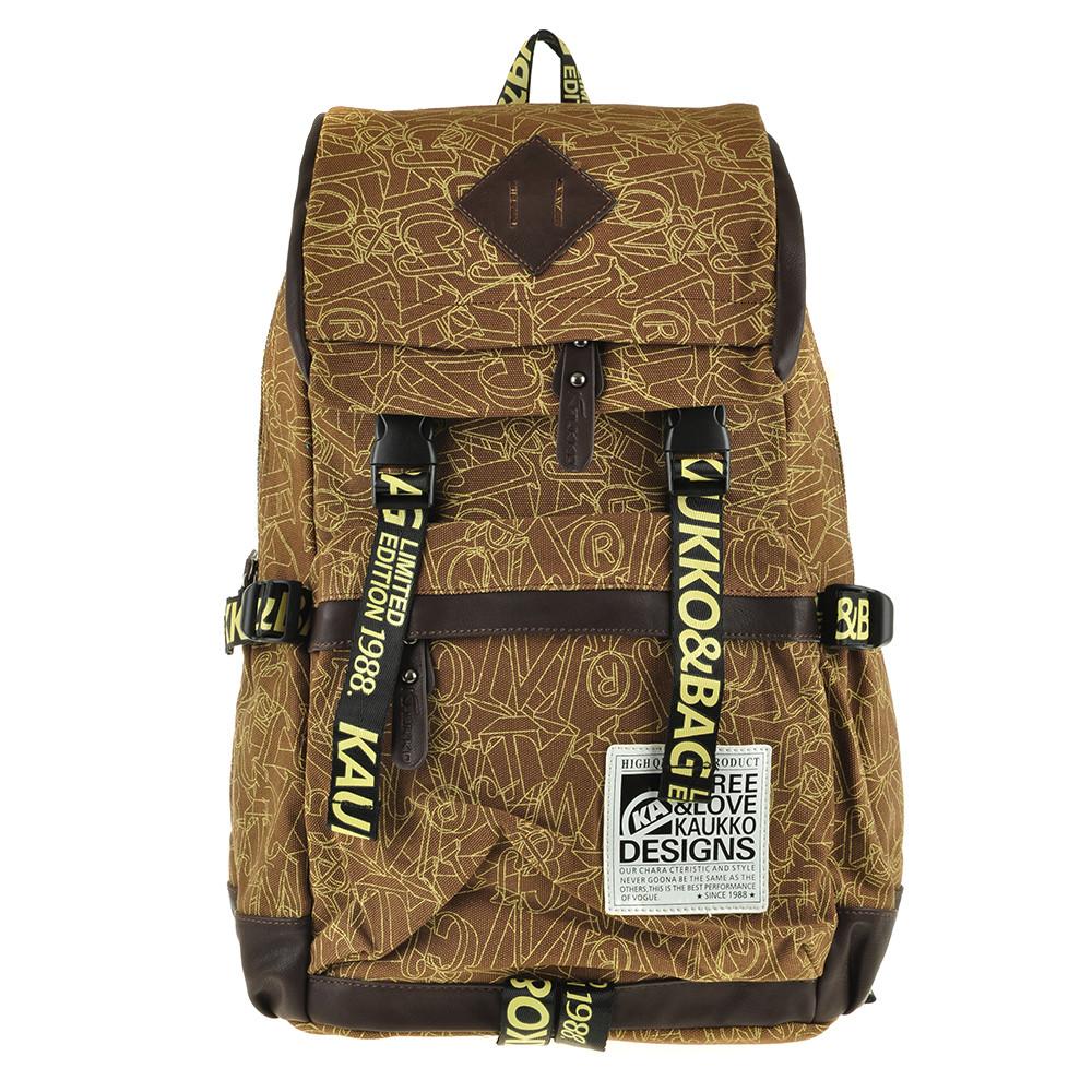 Рюкзак молодёжный KAUKO & BAG 30х44х16 коричневый  ксФП71кор
