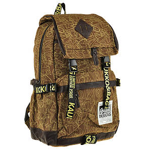 Рюкзак молодёжный KAUKO & BAG 30х44х16 коричневый  ксФП71кор , фото 2