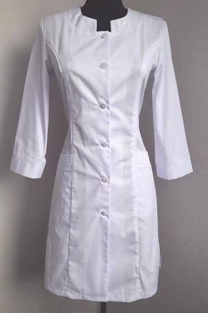 Классический медицинский женский белый халат с карманами 46-58., фото 2