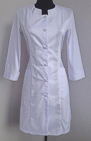Классический медицинский женский белый халат с карманами 46-58., фото 3