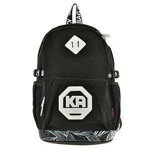 Рюкзак молодёжный KAUKO 29х46х17 чёрный, материал брезент, фото 2