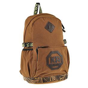 Рюкзак молодёжный KAUKO 29х46х17 коричневый, материал брезент ксФП65кор, фото 2
