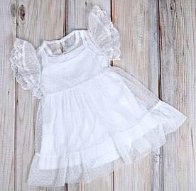 """Фатиновое платье с боди """"White"""""""