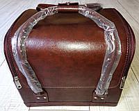 Бьюти кейс для визажистов, парикмахеров и мастеров маникюра / педикюра (коричневый, матовый)
