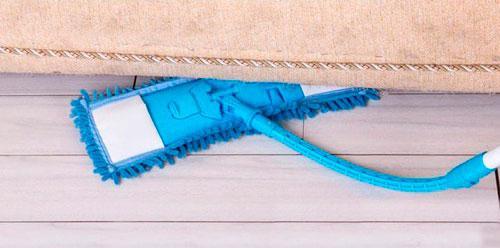 Швабра для пола с гибкой телескопической ручкой