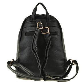 Рюкзак жіночий Jing Pin чорний, 25х30х16, екошкіра ксБГ799ч, фото 2