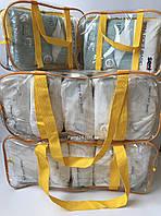 Набор из 4 прозрачных сумок в роддом - S,S,L,L - Желтые