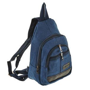 Рюкзак одна-две лямки HYD 20х31х13 синий, материал брезент   кс8133син, фото 2