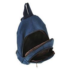 Рюкзак одна-две лямки HYD 20х31х13 синий, материал брезент   кс8133син, фото 3