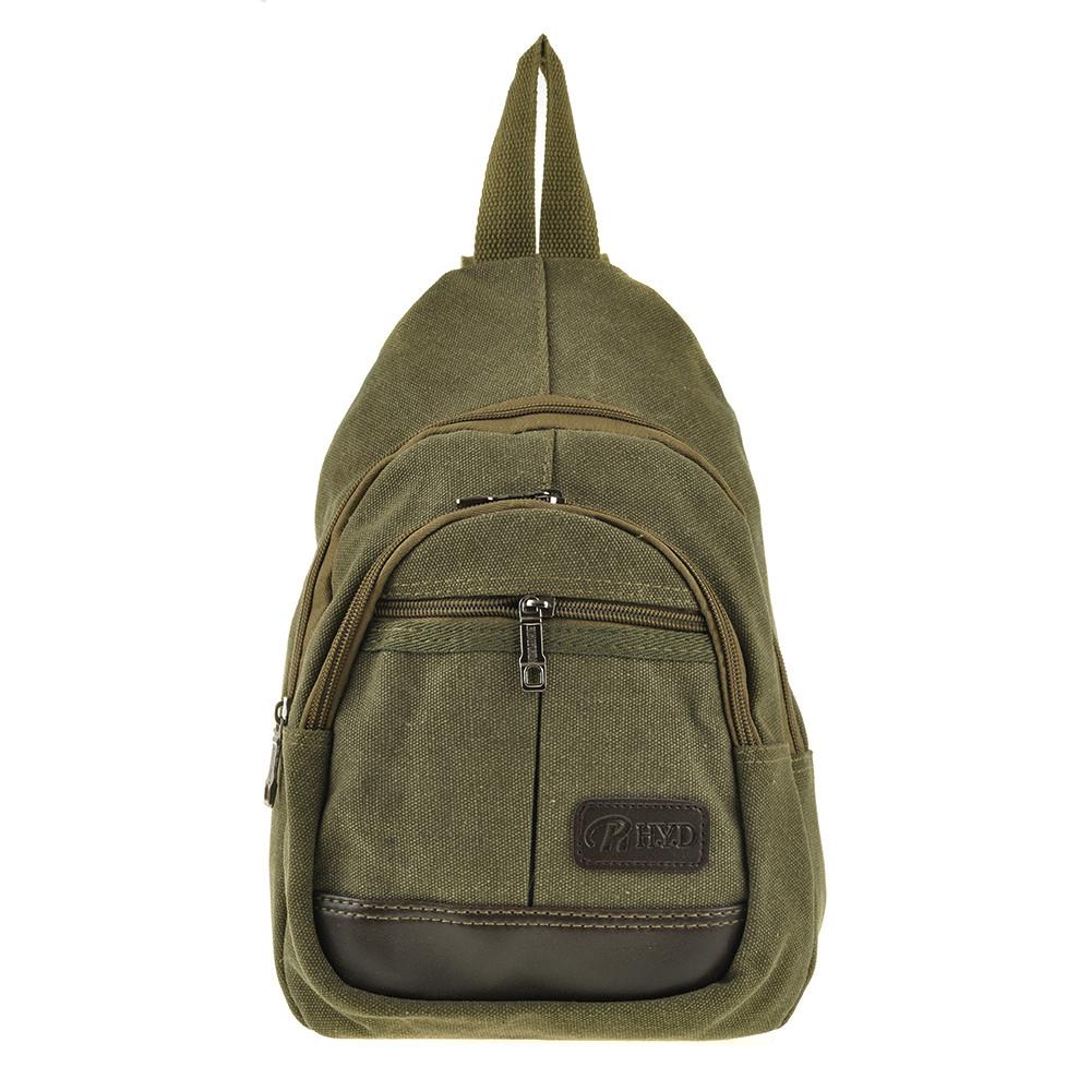 Рюкзак одна-две лямки HYD 20х31х12 хаки, материал брезент   кс8133х